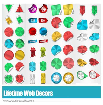GraphicRiver-Lifetime-Web-Decors-Badge-Sticker-Tag-Ribbon-Label
