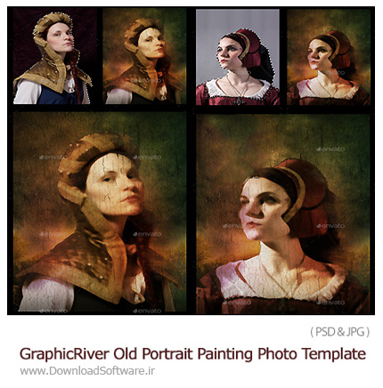 GraphicRiver-Old-Portrait-Painting-Photo-Template