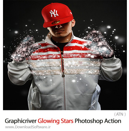 Graphicriver-Glowing-Stars-Photoshop-Action