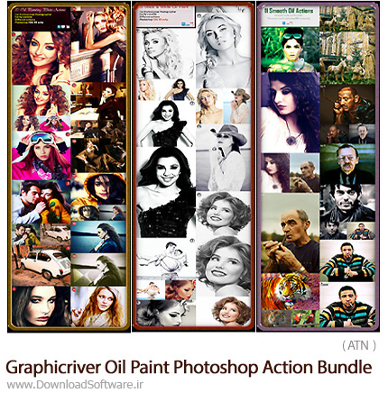 Graphicriver-Oil-Paint-Photoshop-Action-Bundle