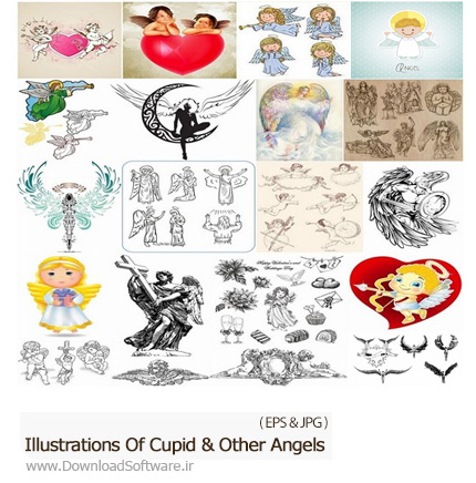 Illustrations-Of-Cupid-And-Other-Angels