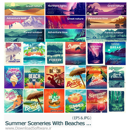 Summer-Sceneries-With-Beaches-Forests-Mountains