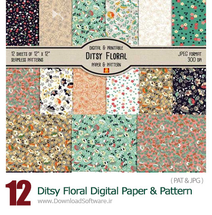 Ditsy-Floral-Digital-Paper-And-Pattern