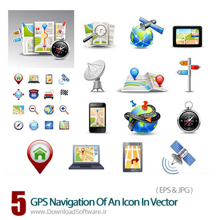 GPS-Navigation-Of-An-Icon-In-Vector