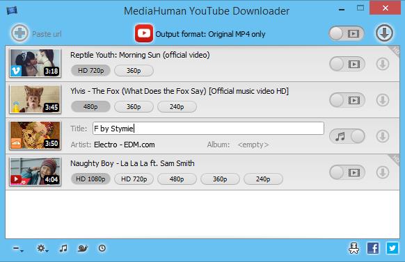 دانلود نرم افزار MediaHuman YouTube Downloader - دانلود از یوتیوب