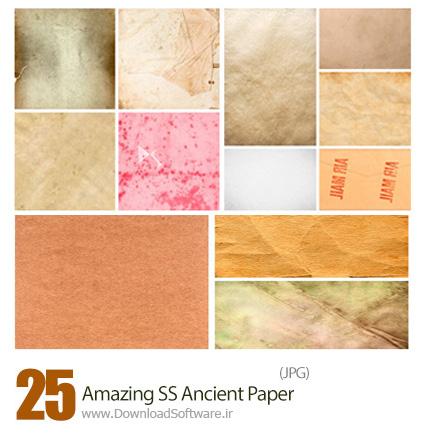 دانلود تصاویر با کیفیت کاغذ قدیمی، کاغذ کاهی، کاغذ مچاله از شاتر استوک - Amazing ShutterStock Ancient Paper