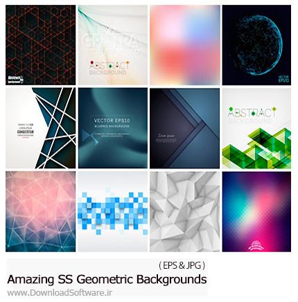 دانلود تصاویر وکتور پس زمینه های اشکال هندسی از شاتر استوک - Amazing Shutterstock Geometric Backgrounds