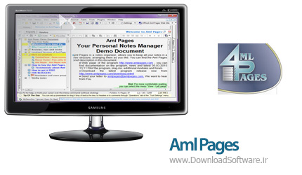 دانلود Aml Pages + Portable نرم افزار ویرایشگر متن