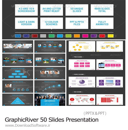دانلود GraphicRiver 50 Slides Presentation