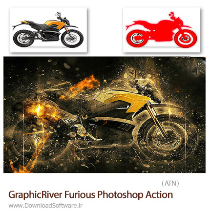 دانلود اکشن فتوشاپ ایجاد افکت خشمگین بر روی تصاویر از گرافیک ریور - GraphicRiver Fire Photoshop Action