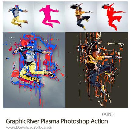 دانلود اکشن فتوشاپ ایجاد افکت رنگ های ریخته شده بر روی تصاویر