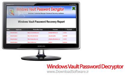 دانلود Windows Vault Password Decryptor نرم افزار بازیابی اطلاعات