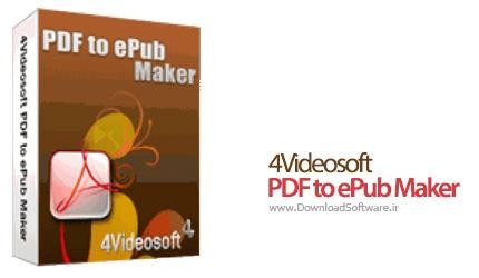 دانلود 4Videosoft PDF to ePub Maker نرم افزار مبدل PDF به ePub
