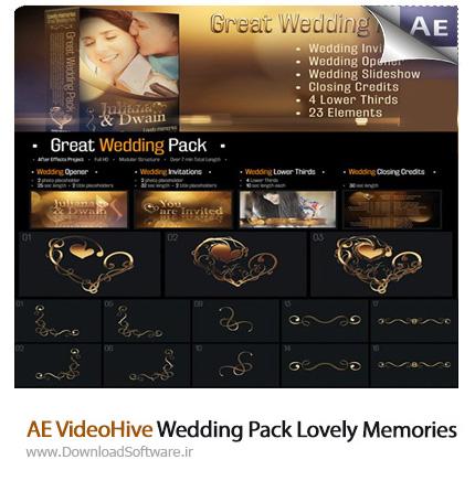 دانلود پروژه آماده افترافکت - عناصر تزئینی جشن عروسی از ویدئوهایو - AE VideoHive Wedding Pack Lovely Memories