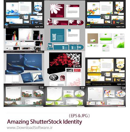 دانلود تصاویر وکتور ست اداری، کارت ویزیت، سربرگ، بروشور و ... از شاتر استوک - Amazing ShutterStock Identity