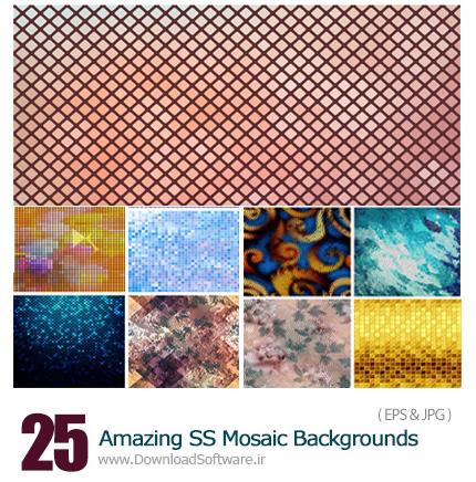 دانلود تصاویر وکتور پس زمینه های موزاییکی از شاتر استوک - Amazing ShutterStock Mosaic Backgrounds