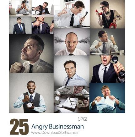 دانلود تصاویر با کیفیت کارمندان مرد عصبانی - Angry Businessman