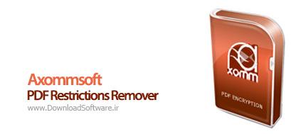 دانلود Axommsoft PDF Restrictions Remover نرم افزار بازکردن قفل PDF