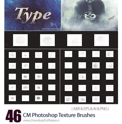 دانلود مجموعه تصاویر تکسچر و براش گرانج برای فتوشاپ - CM Photoshop Texture Brushes