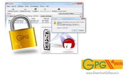 دانلود Gpg4win نرم افزار قفل گذاری فایل و ایمیل