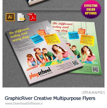 دانلود مجموعه تصاویر لایه باز فلایر های تبلیغاتی فارغ التحصیلی و دانش آموزان از گرافیک ریور - GraphicRiver Creative Multipurpose Flyers Bundle