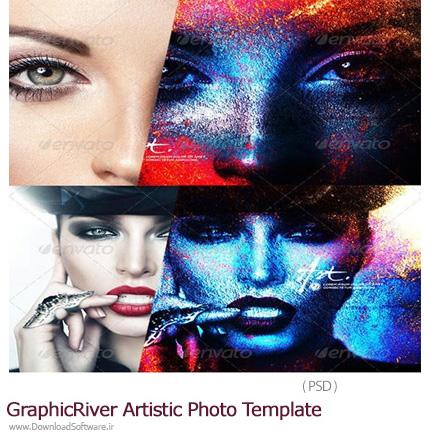 دانلود تصاویر لایه باز قالب آماده تصاویر هنری از گرافیک ریور - Graphicriver Artistic Photo Template