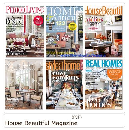 دانلود مجله دکوراسیون داخلی خانه، حمام و دستشویی، گلخانه، پذیرایی، اتاق خواب - House Beautiful Magazine 2015