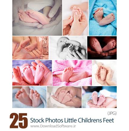 دانلود تصاویر با کیفیت پای نوزادان - Stock Photos Little Childrens Feet