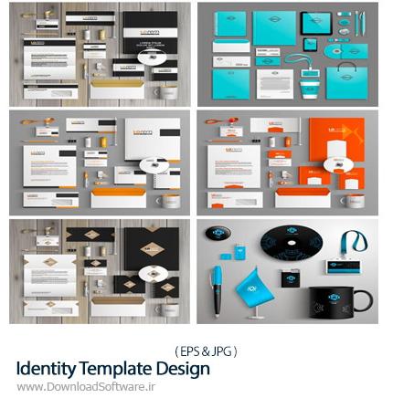 دانلود تصاویر وکتور قالب آماده ست اداری، کارت ویزیت، سربرگ، بروشور و ... از شاتر استوک - Amazing ShutterStock Identity Template Design