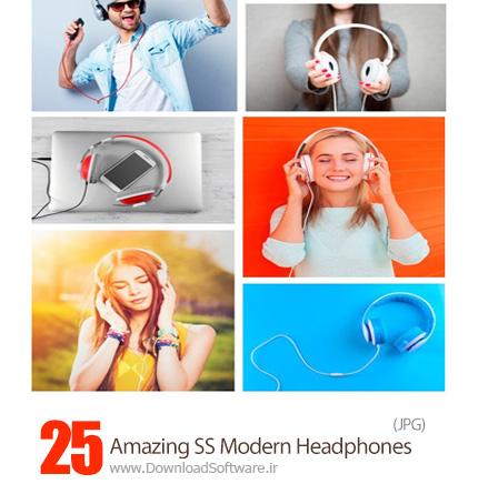 دانلود تصاویر با کیفیت هدفون، هندزفری از شاتر استوک - Amazing ShutterStock Modern Headphones