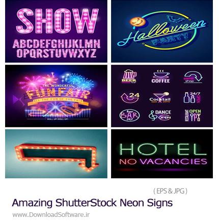 دانلود تصاویر وکتور عناصر طراحی نئونی از شاتر استوک - Amazing ShutterStock Neon Signs