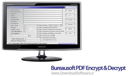 دانلود Bureausoft PDF Encrypt & Decrypt نرم افزار محافظت از فایل های PDF