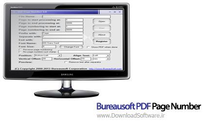 دانلود Bureausoft PDF Page Number نرم افزار قرار دادن شماره برای PDF