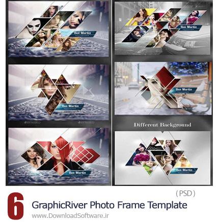 دانلود تصاویر لایه باز قالب آماده فریم تصاویر از گرافیک ریور - GraphicRiver Photo Frame Template