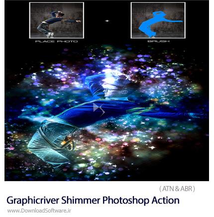 دانلود اکشن فتوشاپ ایجاد افکت ذرات نوری بر روی تصاویر از گرافیک ریور - Graphicriver Shimmer Photoshop Action