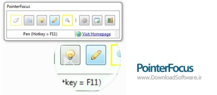 دانلود PointerFocus نرم افزار برجسته کردن موس