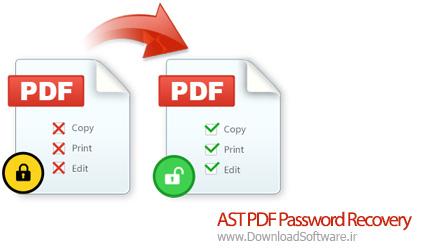 دانلود AST PDF Password Recovery نرم افزار بازیابی پسورد PDF