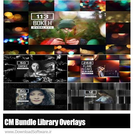 دانلود مجموعه تصاویر کلیپ آرت افکت های متنوع بوکه، فتوکپی، دود، ذرات گرد و غبار و برف برای عکاسان - CM Bundle Library Overlays PRO
