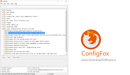 دانلود ConfigFox x86/x64 – پیکربندی تنظیمات مخفی مرورگر فایرفاکس