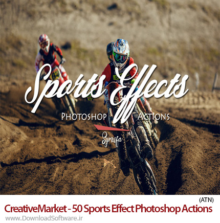 دانلود اکشن فتوشاپ CreativeMarket - 50 Sports Effect Photoshop Actions