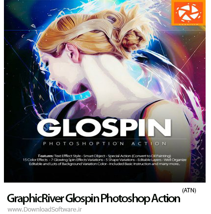 دانلود اکشن فتوشاپ GraphicRiver Glospin Photoshop Action