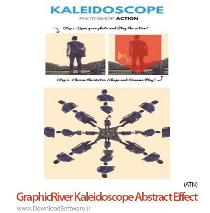 دانلود اکشن لوله ای شکل GraphicRiver Kaleidoscope Abstract Effect