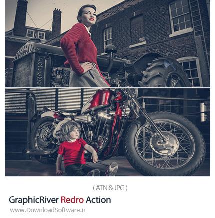 دانلود اکشن فتوشاپ تغییر رنگ عکس از گرافیک ریور - GraphicRiver Redro Action