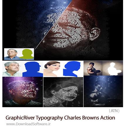 دانلود اکشن فتوشاپ ساخت تایپوگرافی کلمات بر روی تصاویر از گرافیک ریور - GraphicRiver Typography Charles Browns Action