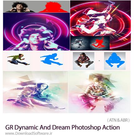 دانلود 2 اکشن فتوشاپ ایجاد افکت پویا نمایی و رویایی بر روی تصاویر از گرافیک ریور - Graphicriver Dynamic And Dream Photoshop Action