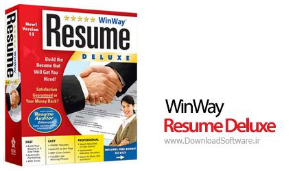 دانلود WinWay Resume Deluxe 14 نرم افزار رزومه نویسی