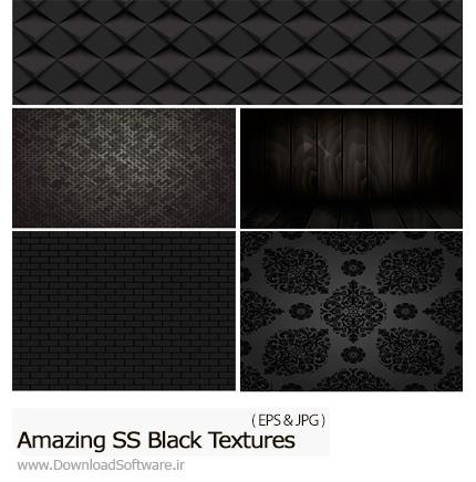 دانلود تصاویر وکتور تکسچر مشکی با طرح های متنوع از شاتر استوک - Amazing ShutterStock Black Textures