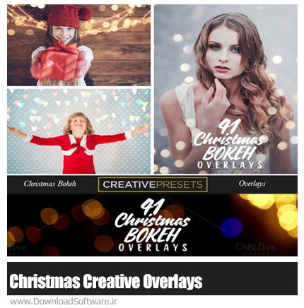 دانلود 41 تصویر کلیپ آرت خلاقانه کریسمس - CM 41 Christmas Creative Overlays