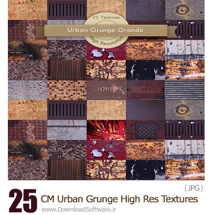 دانلود مجموعه تصاویر تکسچر گرانج با کیفیت بالا - CM Urban Grunge High Res Textures