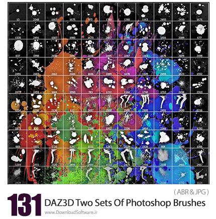 دانلود مجموعه براش فتوشاپ لکه های جوهر پخش شده - DAZ3D Two Sets Of Photoshop Brushes